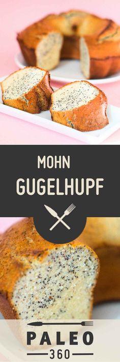 Mohn Gugelhupf ✓ glutenfrei ✓laktosefrei ✓ 100% natürlich Paleo. Mandel-basiert, mit Blaumohn, Honig und Kokosöl. ➤ Jetzt Gugelhupf backen