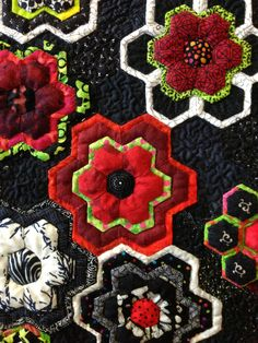 Made by Val Smith a master of hexagons! - wouldn't this pattern make great pot holders for a gift after a kitchen remodel or to a new home owner.