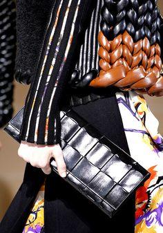 Balenciaga Fall 2011 RTW. Leather knitting.