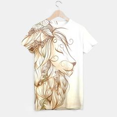 Poetic Lion, More Sexy #art #loujah #moresexy #tshirt #tees #boho #hipster