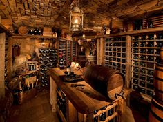 If this was under my house I wouldn't see my husband for weeks. #WineCellar