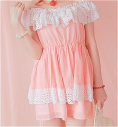 cute kawaii pink pastel Korean fashion kfashion dresses Japanese ...