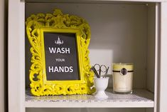 Bathroom #Decor #DIY #Yellow #Printable #Vintage