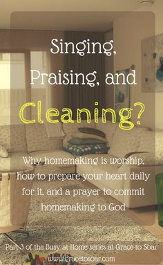 Welcome to Part 3 of the Busy at Home Series! Together, we've been searching God's word to learn what it says about housekeeping. I'm a naturally messy person and struggle with ho…