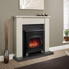Be Modern Ravensdale Electric Fireplace Suite - Flat-Wall Fireplaces - Fireplace Packages - Fireplaces Are Us Inset Fireplace, Wood Burner Fireplace, Tv Above Fireplace, Fireplace Seating, Candles In Fireplace, Fireplace Bookshelves, Black Fireplace, Small Fireplace, Fireplace Ideas