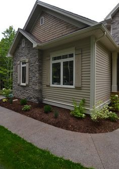 Tan Siding Exterior Design Ideas, Pictures, Remodel and Decor