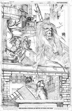 Dissing Gordon by Greg Capullo Comic Book Pages, Comic Book Artists, Comic Artist, Comic Books Art, Batman Comic Art, Batman Comics, Gotham Batman, Batman Robin, Example Of Comics