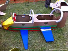 Character of plane: We could make one of these that fits 3 or 4 people in it to create the character.