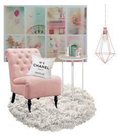 """Pink"" by jessicamaraea on Polyvore featuring interior, interiors, interior design, home, home decor, interior decorating, Home Decorators Collection and Chanel"