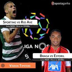Segunda feira com grandes encontros pela Liga NOS. Confere os prognósticos ApostaGanha:  http://www.apostaganha.com/2016/02/08/prognostico-apostas-sporting-vs-rio-ave-liga-nos-73564894/  http://www.apostaganha.com/2016/02/08/prognostico-apostas-sporting-vs-rio-ave-liga-nos-74664/  http://www.apostaganha.com/2016/02/08/prognostico-apostas-sporting-vs-rio-ave-liga-nos-874654/  http://www.apostaganha.com/2016/02/08/prognostico-apostas-braga-vs-estoril-liga-nos-84664…