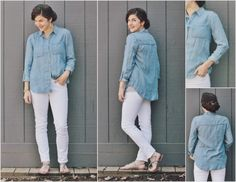 Stitch Fix Postpartum // Chambray with white denim // Joey Button Up by Staccato