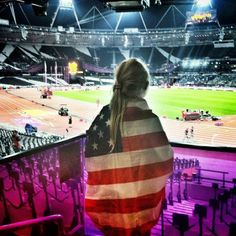 Wave the American flag at the Olympic Games