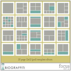 Oscraps::Shop by Designer::Biograffiti::FOCUS: a template album