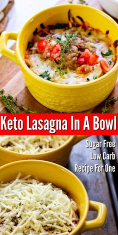 Keto Lasagna In A Bowl – Easy low carb dinner recipe for one! Keto Lasagna In A Bowl – Easy low carb dinner recipe for one! Sugar Free Low Carb Recipe, Healthy Low Carb Recipes, Low Carb Dinner Recipes, Ketogenic Recipes, Keto Dinner, Low Carb Keto, Diet Recipes, Dessert Recipes, Ketogenic Diet
