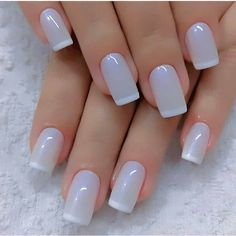 How To Make FOF Nails Stickers-From Nails Artifacts - Page 7 of 46 - Finger Nails Hub. - How to make stickers FOF nails-from nails art products I always think of different ways to optimize - Classy Nails, Stylish Nails, Cute Nails, Pretty Nails, White Tip Nails, Lilac Nails, White French Nails, French Nail Art, Brown Nails