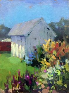 Smokehouse Plein Air by Trisha Adams Oil ~ 12 x 9