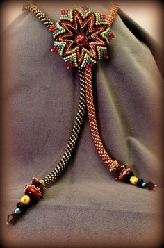 """Another """"Surfing A'Round the Waves"""". Patterns available - Jimmie Boatright - dboatri931@aol.com Classes at www.beadjoux.com"""