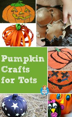 Pumpkin crafts for toddlers and preschoolers - including glow in the dark window clings!