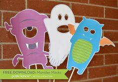 Free Printable Monster Masks