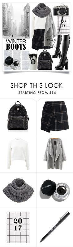 """""""#12WinterBoots"""" by shasy ❤ liked on Polyvore featuring Dansk, MCM, Chicwish, T By Alexander Wang, adidas, Nikon and Bobbi Brown Cosmetics"""