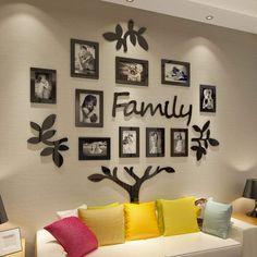 Family Tree Wall Decor, Family Tree Picture Frames, Family Tree With Pictures, Family Tree Photo, Collage Picture Frames, Room Wall Decor, Diy Picture Frames On The Wall, Family Wall Art, Collage Photo