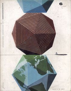 Erik Nitsche, magazin cover for Gebrauchsgraphik, International Advertising Art, 1961. Munich, Germany.
