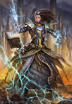 Art by Alexander Nanitchkov - Air mages are damage mages, specializing in high damage against a small number of targets