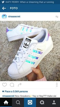 shoes holographic white adidas superstars adidas superstar sneakers - Adidas White Sneakers - Latest and fashionable shoes - shoes holographic white adidas superstars adidas superstar sneakers Burgundy Sneakers, New Sneakers, White Sneakers, White Shoes, Summer Sneakers, Sneakers Nike, Adidas Tubular Black, Adidas Nmd R1 Pink, Adidas Shoes
