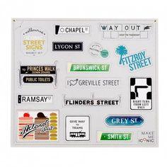 Melbourne Street Signs Magnets