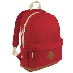 Bagbase Heritage Retro Backpack/Rucksack/Bag Litres) (Pack of Top Backpacks, Stylish Backpacks, Retro Backpack, Black Backpack, School Bags For Kids, Kids Bags, Men Bags, Camouflage Backpack, Style Retro