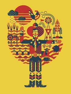 State Fair of Texas Poster  Zach Hale, illustrator/associate creative director  Liz Burnett, creative director  The Matchbox Studio, design firm  The State Fair of Texas, client  #posterdesign #illustration #graphicdesign