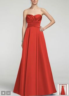 Long Bridesmaid Dresses - David's Bridal @Amanda Celaya this is ...