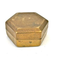 Hexagon Brass Container