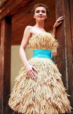 платье из колосьев