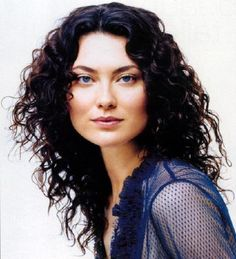 Shalom Harlow's pretty hair