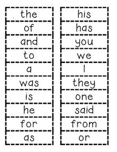 Fundations Trick Words