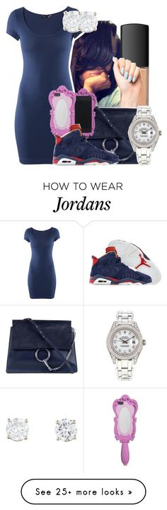 """""""With bae"""" by tanaisha on Polyvore featuring NARS Cosmetics, H&M, Chloé, Moschino, Retrò and Rolex"""