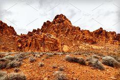 Scenic Landscape Of Rock Formation  by PhotographerJen on @creativemarket #Landscape #Mountain #Desert #Design #CreativeMarket
