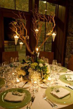 "Wedding Table Setting at the Lake Placid Lodge. I'd say ""I do"" all over again!   #LoveLakePlacidLodge  http://www.lakeplacidlodge.com/     #romantic getaway   http://www.travelchannel.com/video/maggies-pub    #Adirondacks"