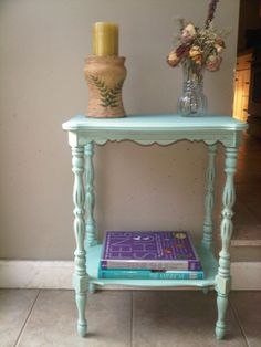 Upcycled Antique Accent Table $75