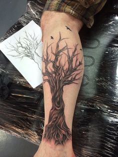 My tree tattoo from twisted by design in Bacchus marsh artist estha.