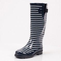 Stripe Rain Boot, WANT.