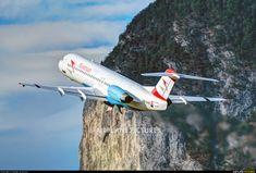 Austrian Airlines/Arrows/Tyrolean Fokker 100 photo by Danijel Jovanović Innsbruck, Fokker 50, Austrian Airlines, International Civil Aviation Organization, Cool Backdrops, Airport Design, Air Planes, Photo Online, Airports