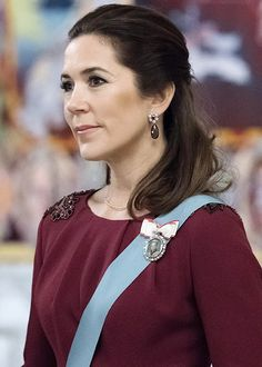 Crown Princess Mary of Denmark, New Year Reception for the Diplomatic Corps 2018