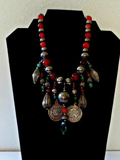 Vintage Art Deco Statement Necklace by FabulousFunFashion on Etsy