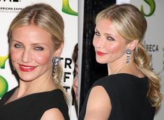 Cameron Diaz wearing a sleek pony.....Gorgeous Wedding do's that have walked the red carpet
