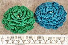 diy crochet lace rose7