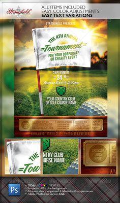 Golf tournament flyer design inspiration pinterest for Golf tournament budget template