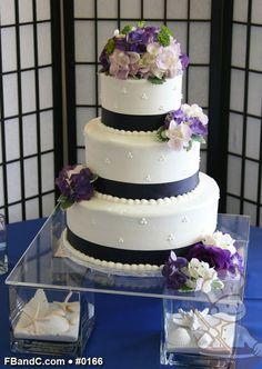 "Design W 0166 | Butter Cream Wedding Cake | 12""+9""+6"" | Serves 100 | Satin Ribbon, Fresh Flowers | Standard Price"