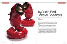 ikyaudio Red Lobester Audio Speakers  With Free 15 by ikymagoo, $225.00